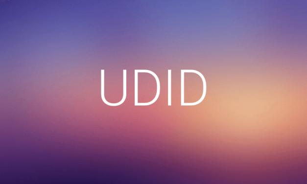 آموزش یافتن شناسه UDID