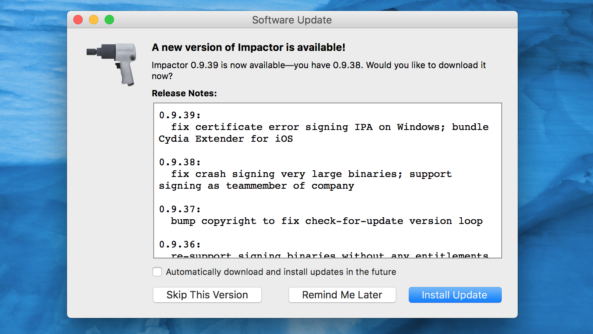 آپدیت جدید Cydia Impactor همراه با ابزاری جدید