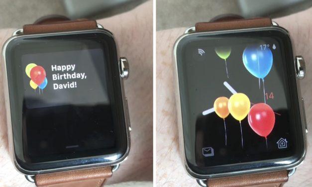 اپل واچ روز تولدتان را به شما تبریک می گوید