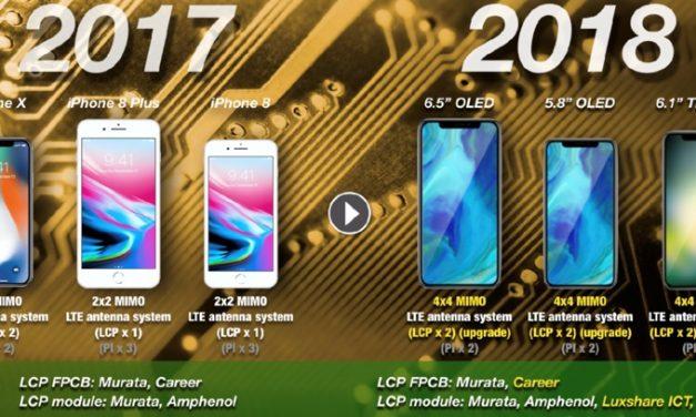 استفاده از آنتن های LCP برای سرعت بیشتر LTE در آیفون های نسل بعد