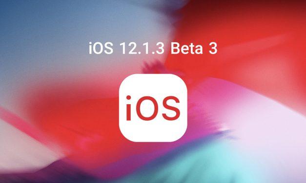 بتای سوم iOS 12.1.3 منتشر شد
