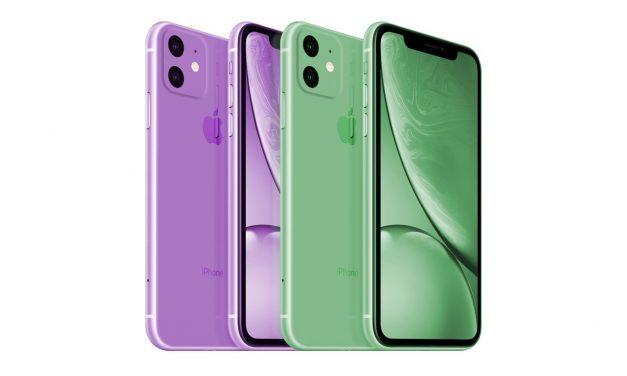 تصویری از رنگ های جدید آیفون XR2