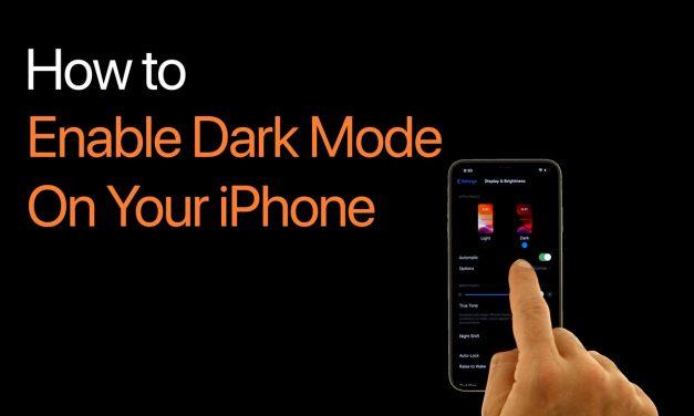 فعال کردن حالت تیره (Dark Mode) در آیفون