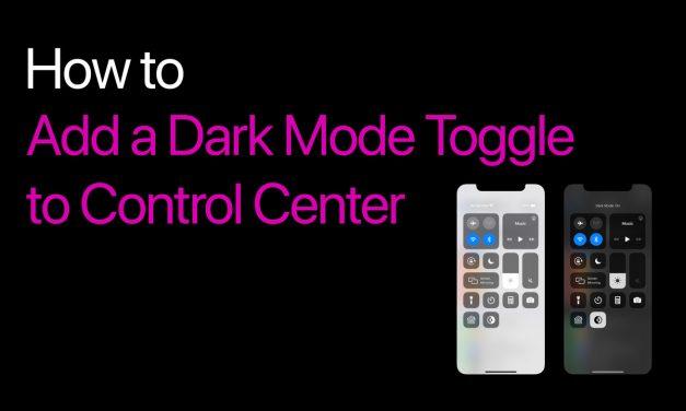 فعال کردن حالت تیره (Dark Mode) کنترل سنتر در iOS 13